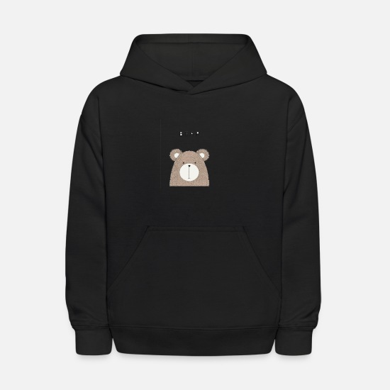 Bear Hoodies & Sweatshirts - cute hand drawn bear - Kids' Hoodie black