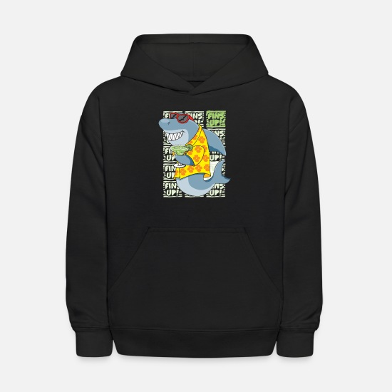 Up Hoodies & Sweatshirts - Fins Up png - Kids' Hoodie black