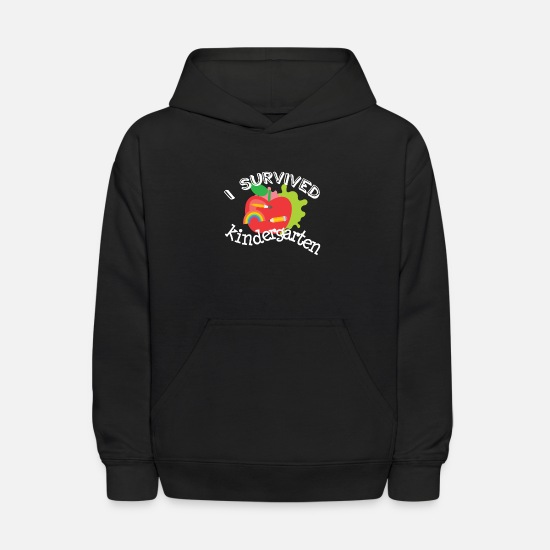 Gift Idea Hoodies & Sweatshirts - Survive Kindergarten End of Year Graduation Shirt - Kids' Hoodie black