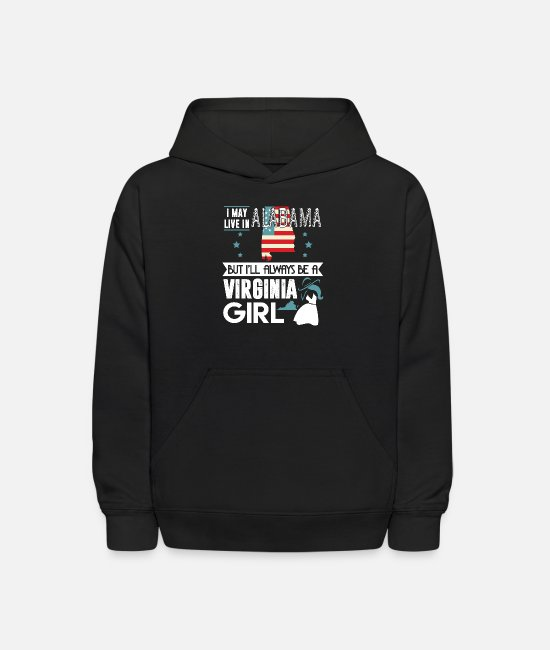 Virginia Girl Hoodies & Sweatshirts - I'll Always Be A Virginia Girl T Shirt - Kids' Hoodie black