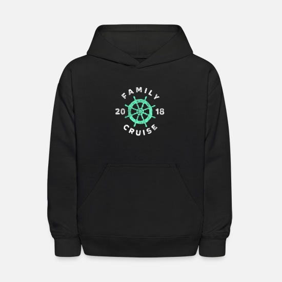 Cruise Hoodies & Sweatshirts - family cruise ship 2018 cruising boat vacation - Kids' Hoodie black