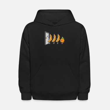 Banana Knock Knock Who's There Banana Orange - Kids' Hoodie