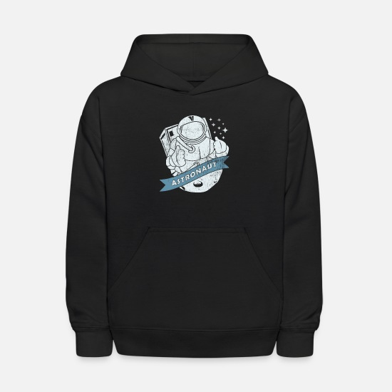 Space Hoodies & Sweatshirts - Astronaut Space Rocket Weightless Mars - Kids' Hoodie black