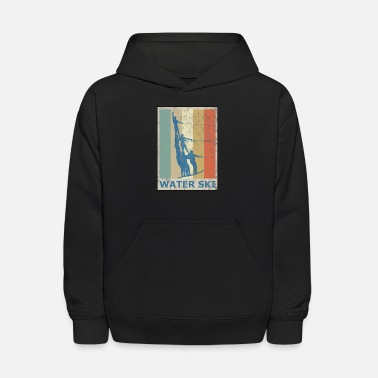 Skiing Retro Vintage Style Water Ski Water Sports - Kids' Hoodie