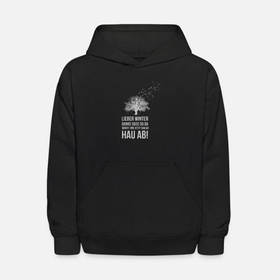 Winter Hoodies & Sweatshirts - Winter - Kids' Hoodie black
