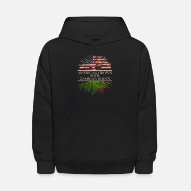 American With Zambian Roots American grown with Zambian Roots - Kids' Hoodie