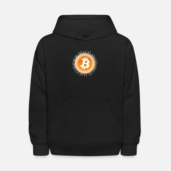 Bitcoin Hoodies & Sweatshirts - Ancient Bitcoin - Kids' Hoodie black