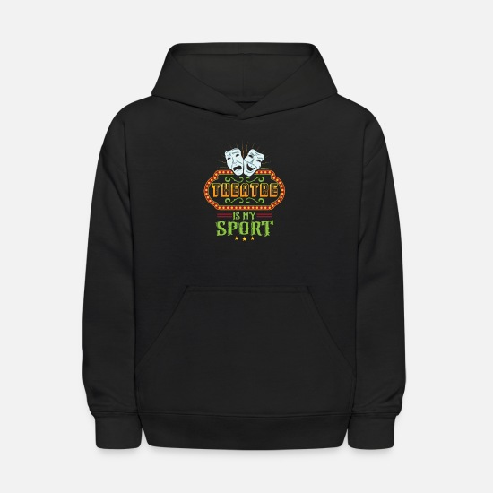 Theater Hoodies & Sweatshirts - Theater Is my sport theater mask - Kids' Hoodie black