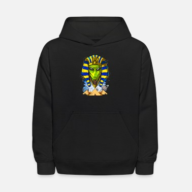 Alien Pharaoh Egyptian Pyramids Ancient Anunnaki - Kids' Hoodie