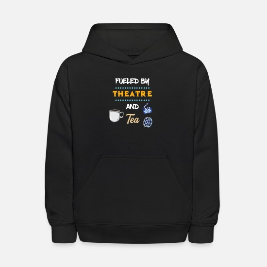 Song Hoodies & Sweatshirts - Fueled By Theatre And Tea Actor Actress Theater - Kids' Hoodie black