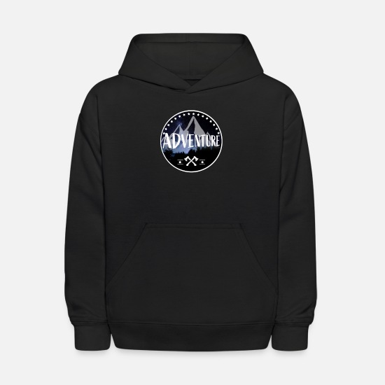 Camping Hoodies & Sweatshirts - Adventure - Kids' Hoodie black