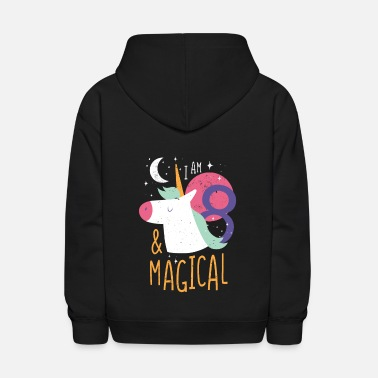 Magical 8th birthday Girl Boy Turned 8 Years old Gift - Kids' Hoodie