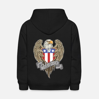 Us Army US Army Veteran Patriot Eagle 4th of July gift - Kids' Hoodie