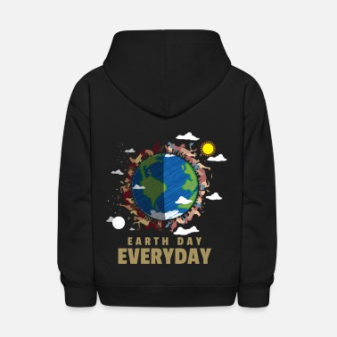 Enviromental Earth Day Everyday - Save Endangered Animals - Kids' Hoodie