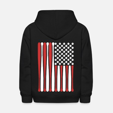 Cool America Baseball Flag USA Design - Kids' Hoodie