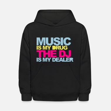 Hip Hop Music Is My Drug V4 - Kids' Hoodie
