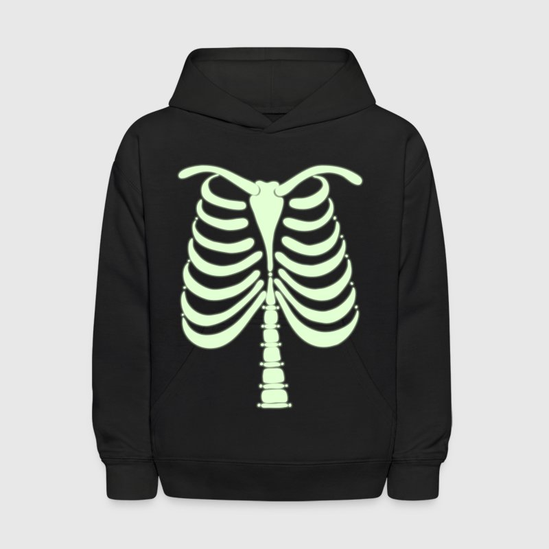 Skeleton Back Vector Art - Kids' Hoodie