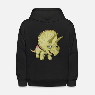 Cute Cartoon Triceratops - Kids' Hoodie