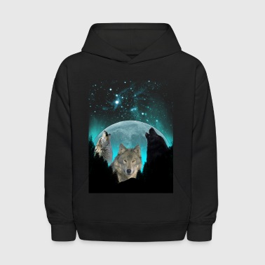 Wolves Twilight Harvest Moon  - Kids' Hoodie