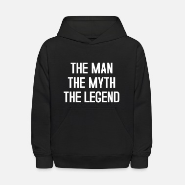Father And Son Superman THE MAN THE MYTH THE LEGEND TYPOGRAPHIC - Kids' Hoodie