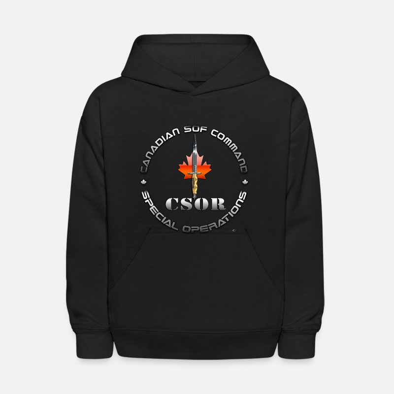 Canadian Hoodies & Sweatshirts - Canadian Special Operations Regiment (CSOR)  - Kids' Hoodie black