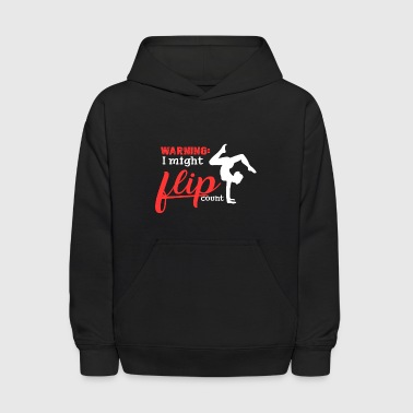 I Might Flip Out Gymnast Tumbling Premium TShirt - Kids' Hoodie