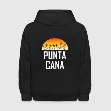 Punta Cana Sunset And Palm Trees Beach - Kids' Hoodie