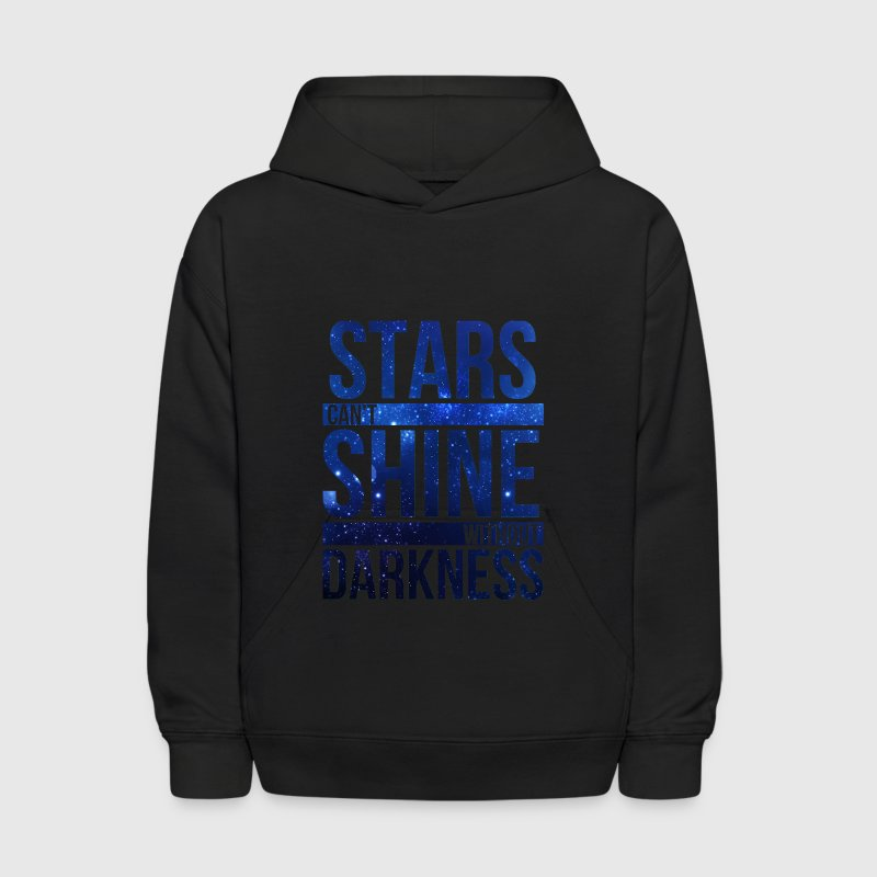 (STARS CAN'T SHINE WITHOUT DARKNESS) Blue Galaxy - Kids' Hoodie