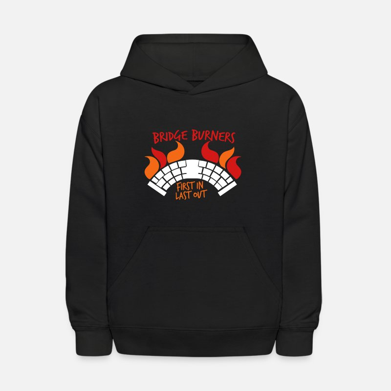 Malazan Hoodies & Sweatshirts - BRIDGEBURNERS Bridge Burners first in last out - Kids' Hoodie black