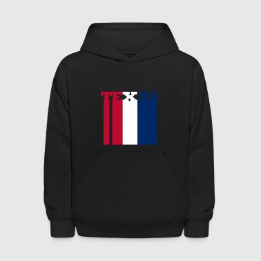 Texas in Red White & Blue - Kids' Hoodie