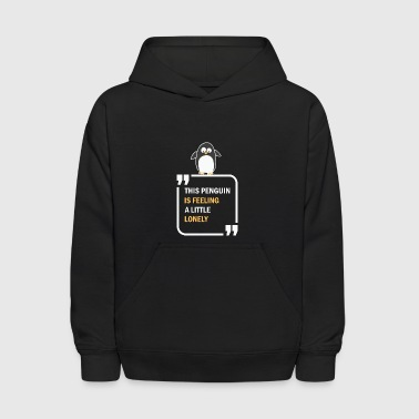 This Penguin is feeling a little lonely in summer - Kids' Hoodie