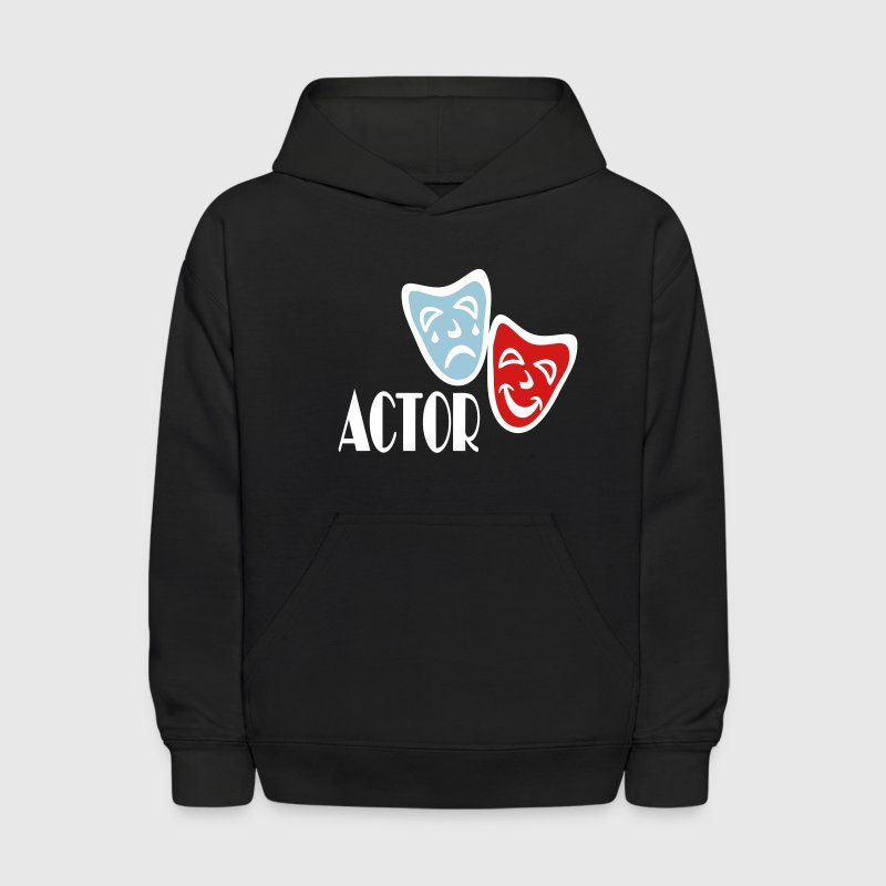 Actor With Comedy Tragedy Masks - Kids' Hoodie