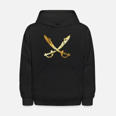Crossed Pirate Sabers (Ancient Gold)  - Kids' Hoodie
