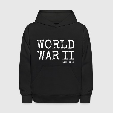 World War Ii World War II 1939-1945 (White) - Kids' Hoodie