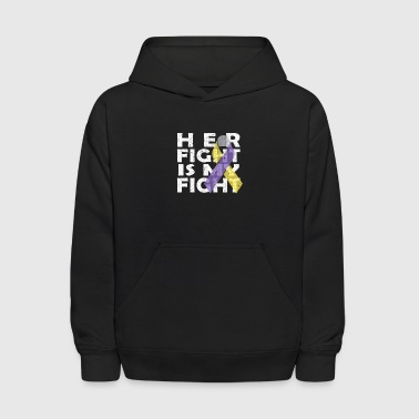 Fck Cancer Shirt bladder cancer - Kids' Hoodie