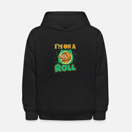 Armadillo Hoodies & Sweatshirts - Armadillo I Am On A Roll Shirt - Kids' Hoodie black
