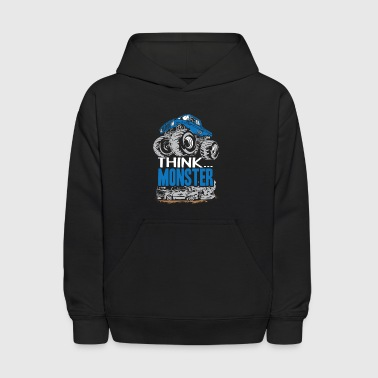 Think Monster Truck Blue - Kids' Hoodie