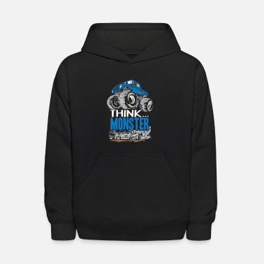 Monster Truck Think Monster Truck Blue - Kids' Hoodie