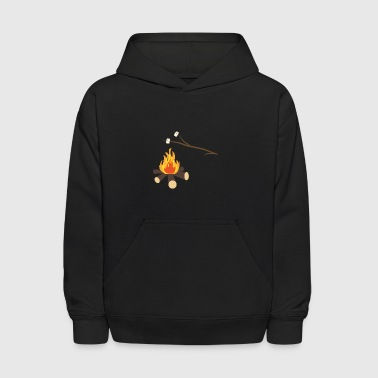 Campfire with marshmallows - Kids' Hoodie