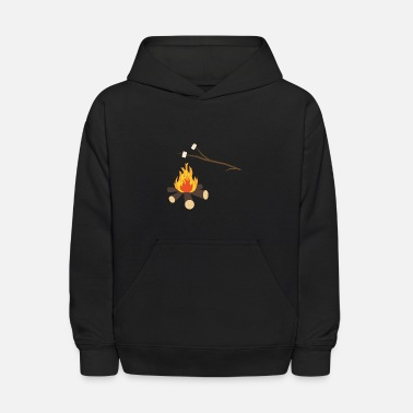 Marshmallow Campfire with marshmallows - Kids' Hoodie