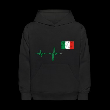 Heartbeat Italy flag gift - Kids' Hoodie