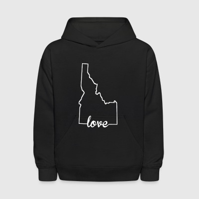 Idaho Love State Outline - Kids' Hoodie