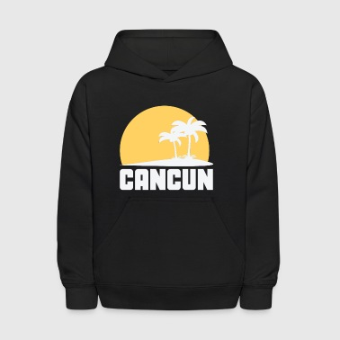 Cancun Mexico Sunset Palm Trees Beach - Kids' Hoodie