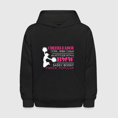 Cheerleader An Attitude With A Bow - Funny Cheerl - Kids' Hoodie