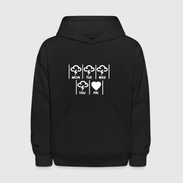 Friday I m In Love Humour Logo - Kids' Hoodie
