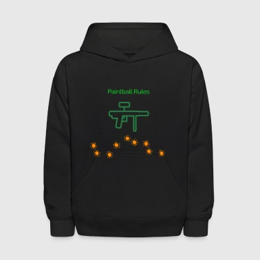 PaintBall Rules - Kids' Hoodie