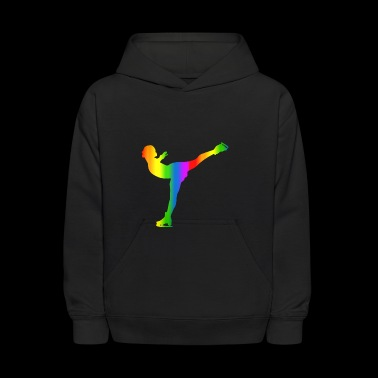 Colorful Ice skating Rainbow - Kids' Hoodie