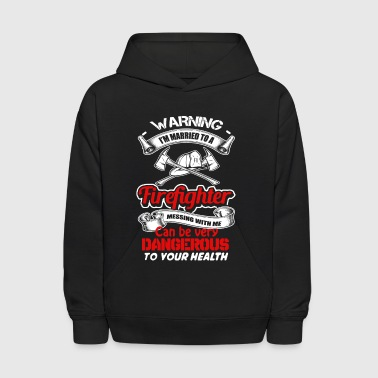 Married To A Firefighter Shirt - Kids' Hoodie