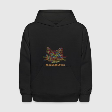 CodingKitten – cute coder's cats kitten - Kids' Hoodie