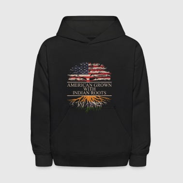 American grown with indian roots - Kids' Hoodie
